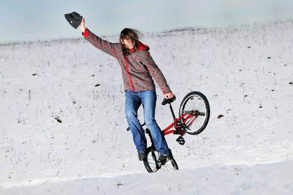 Bmx Photograph - Bmx Flatland In The Snow - Monika Hinz by Matthias Hauser