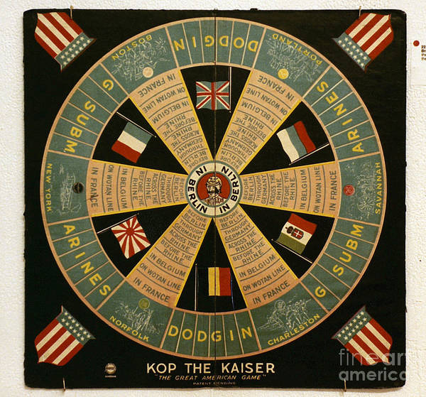 Photograph - Board Game: Kop The Kaiser by Granger