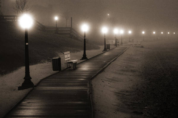 Wi Photograph - Boardwalk In The Fog by Bill Pevlor