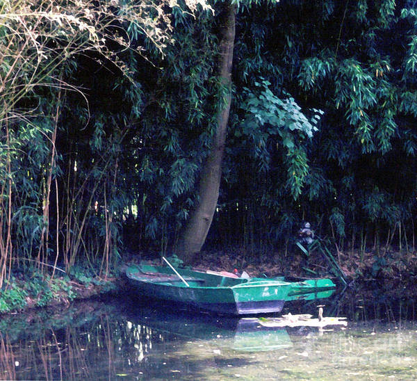 Claude Monet Photograph - Boat At Giverny by Patricia Januszkiewicz