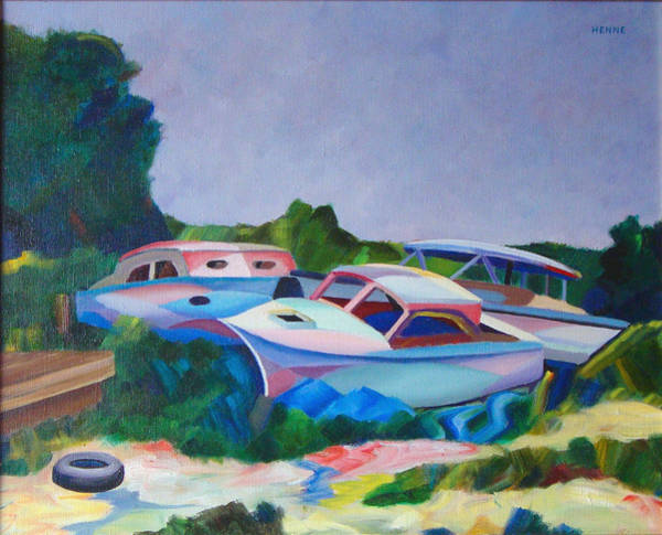 Painting - Boat Dreams by Robert Henne