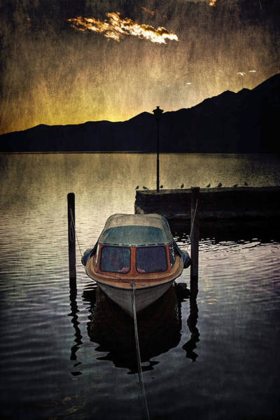 Motor Boat Photograph - Boat During Sunset by Joana Kruse