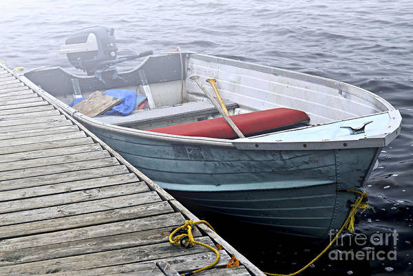 Paddling Photograph - Boat In Fog by Elena Elisseeva