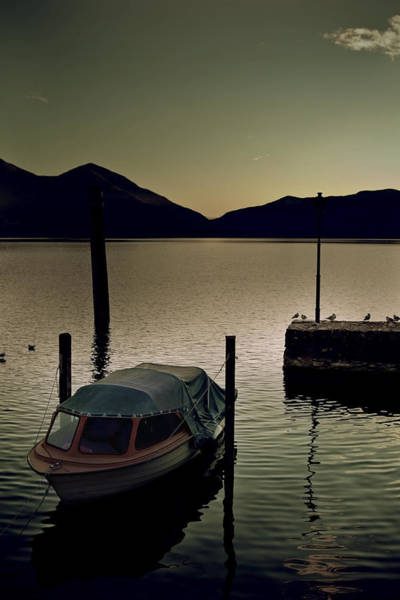 Motor Boat Photograph - Boat In Sunset by Joana Kruse