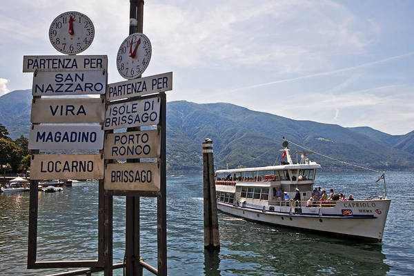 Ticino Photograph - Boat Trip On Lake Maggiore by Joana Kruse