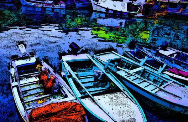 Pyrography - Boats 2 by Mauro Celotti