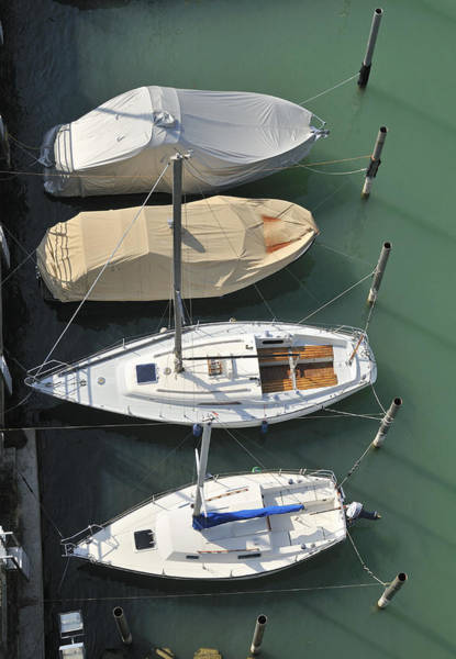 Photograph - Boats And Water From Above by Matthias Hauser