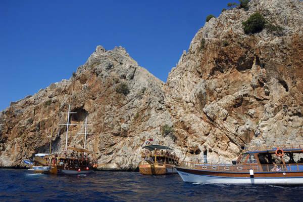 Photograph - Boats At Alanya Coast Turkey by Matthias Hauser