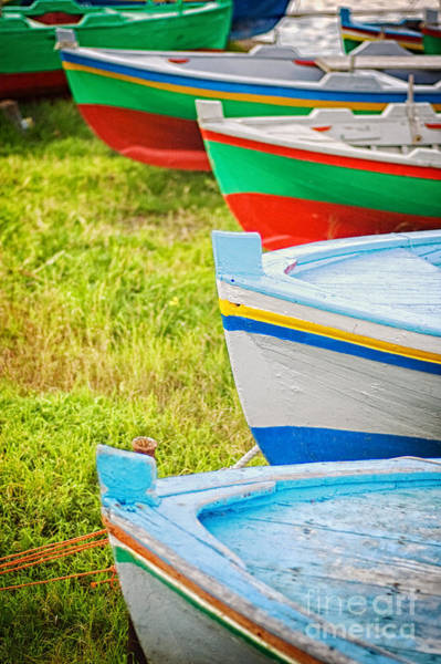 Wall Art - Photograph - Boats In A Row II by Silvia Ganora