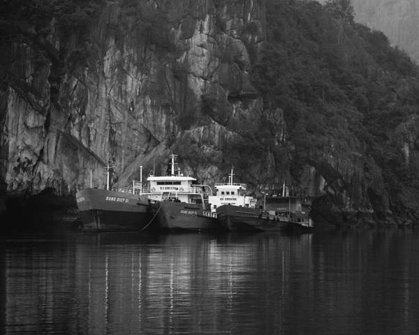 Wall Art - Photograph - Boats On Halong Bay 2 by Skip Nall