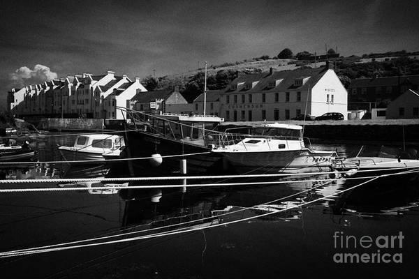 Dun Photograph - Boats Tied Up At The Mouth Of The River Dun In Cushendun County Antrim Northern Ireland by Joe Fox