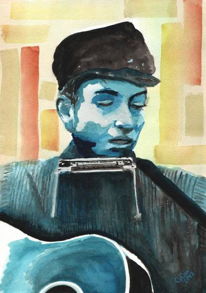 Chris Cox Painting - Bob Dylan by Chris Cox
