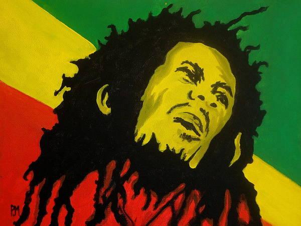 Rasta Painting - Bob Marley by Pete Maier