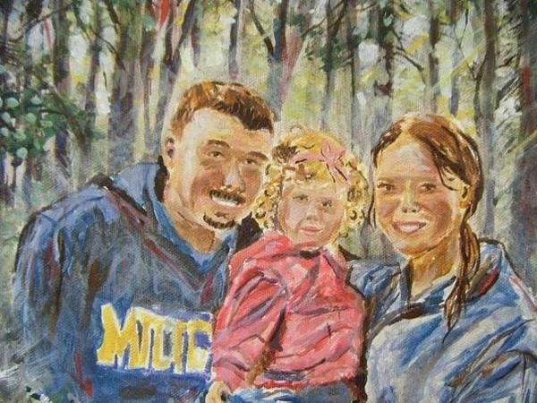 Allman Painting - Bobruk Family Camping by Helen Allman
