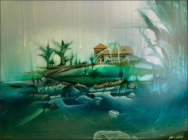 Painting - Bobs Place - Southwoods 1998 by Glenn Bautista