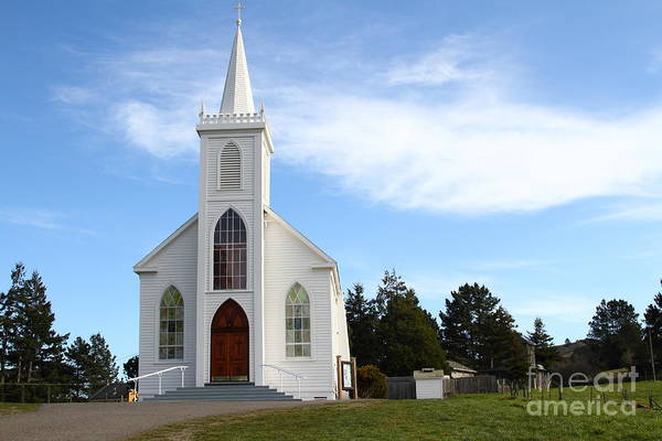 Photograph - Bodega Catholic Church . Bodega Bay . Town Of Bodega . 7d12437 by Wingsdomain Art and Photography