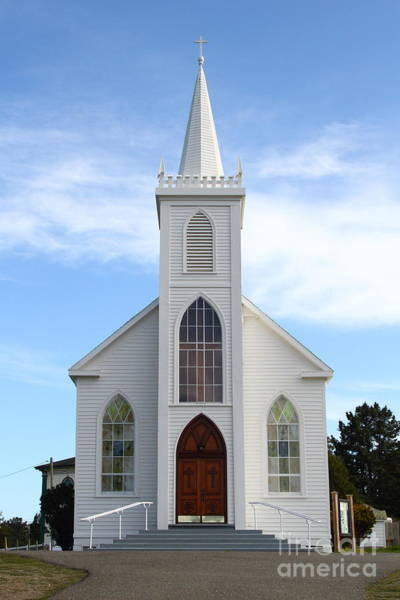 Photograph - Bodega Catholic Church . Bodega Bay . Town Of Bodega . 7d12438 by Wingsdomain Art and Photography