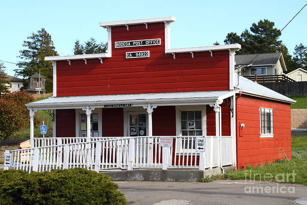 Photograph - Bodega Post Office . Bodega Bay . Town Of Bodega . California . 7d12455 by Wingsdomain Art and Photography