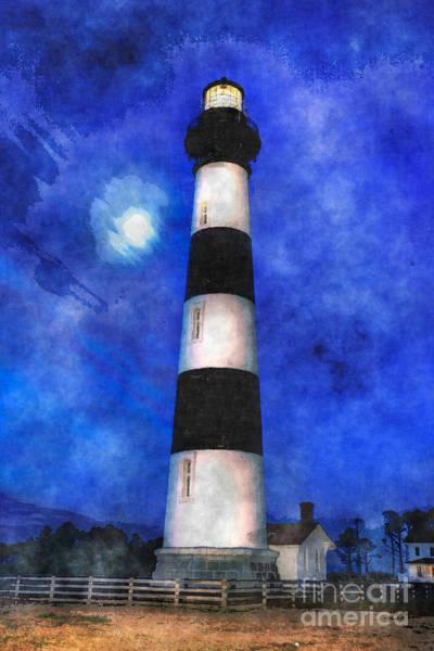 Bodie Painting - Bodie At Moonset IIi by Dan Carmichael