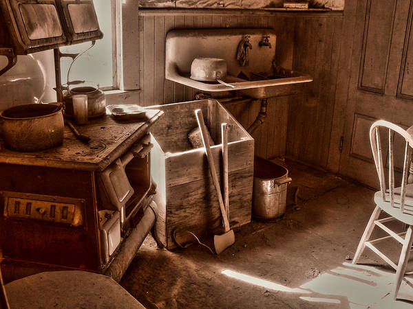 Wall Art - Photograph - Bodie California Ghost Town Kitchen by Scott McGuire