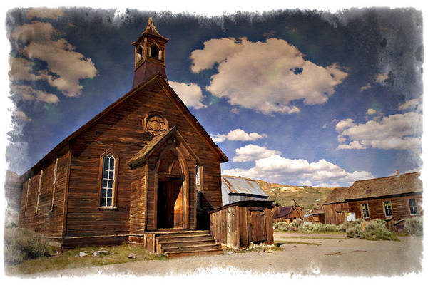 Bodie Ghost Town Wall Art - Photograph - Bodie Church - Impressions by Ricky Barnard