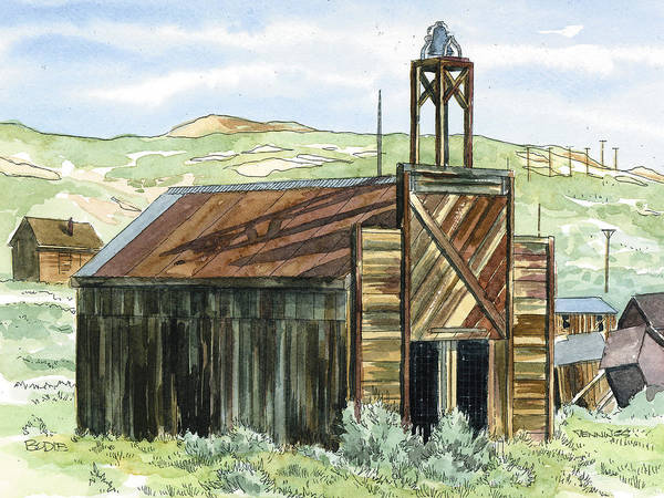 Bodie Painting - Bodie Fire House by Mark Jennings