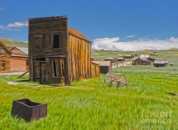 Painting - Bodie Ghost Town - Bent House 01 by Gregory Dyer