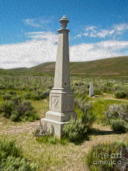 Painting - Bodie Ghost Town - Boot Hill 02 by Gregory Dyer