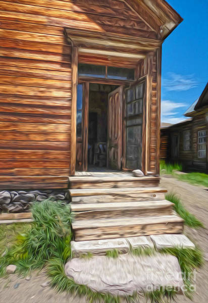 Painting - Bodie Ghost Town - Old House 01 by Gregory Dyer