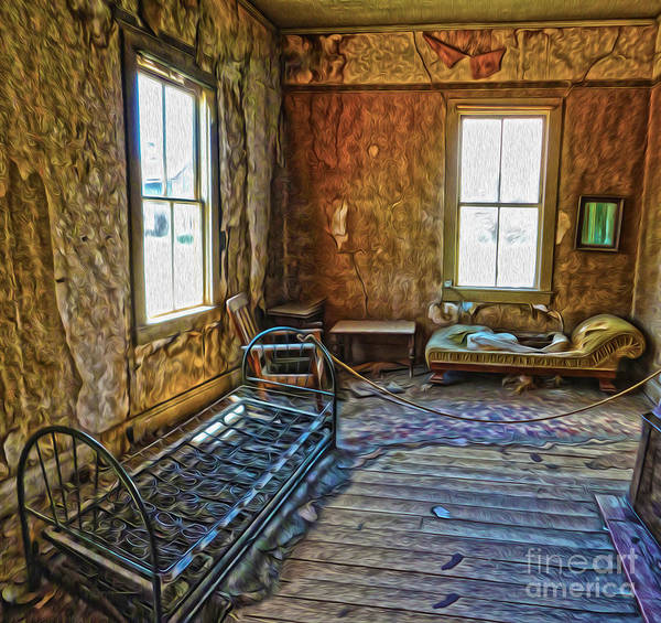 Painting - Bodie Ghost Town - Old House 03 by Gregory Dyer