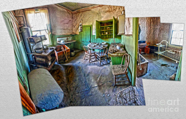 Painting - Bodie Ghost Town - Old House Interior 02 by Gregory Dyer