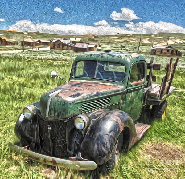 Painting - Bodie Ghost Town - Old Truck 02 by Gregory Dyer