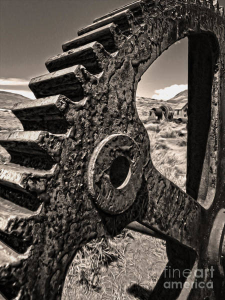 Painting - Bodie Ghost Town - Rusted Gear by Gregory Dyer