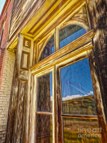 Painting - Bodie Ghost Town - Window by Gregory Dyer