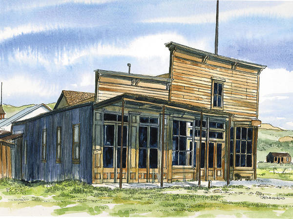 Bodie Painting - Bodie Hotel by Mark Jennings