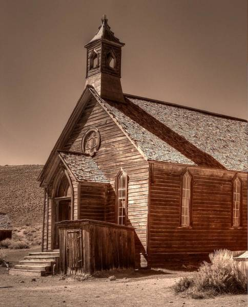 Bodie Ghost Town Wall Art - Photograph - Bodie State Historic Park California Church by Scott McGuire