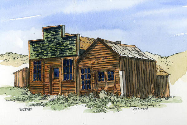 Bodie Painting - Bodie Stores by Mark Jennings