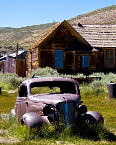 Bodie Ghost Town Wall Art - Photograph - Bodies Old Car by Chris Brannen