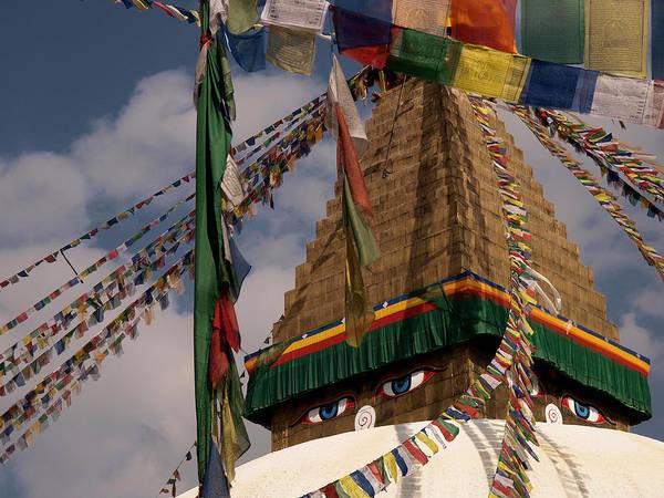 Nepal Wall Art - Photograph - Bodnath Stupa by Nina Papiorek
