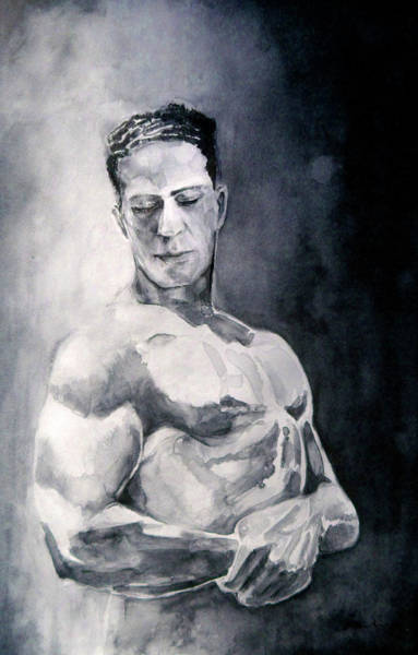 Painting - Body Building by Miki De Goodaboom