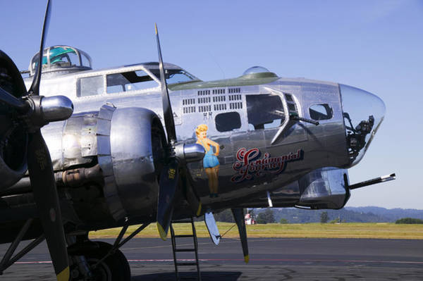 Flying Fortress Photograph - Bomber Sentimental Journey by Garry Gay