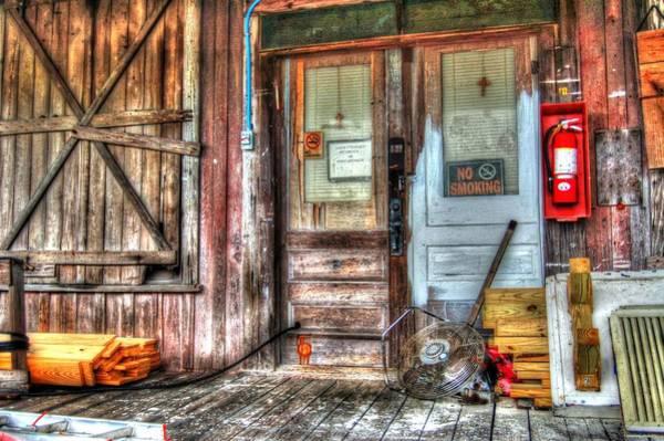 Digital Art - Bon Secour Door by Michael Thomas