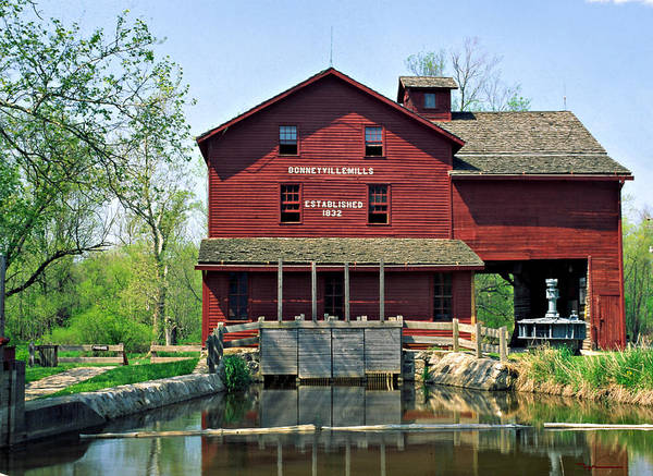 Bonneyville Mill Elkhart County Indiana Art Print