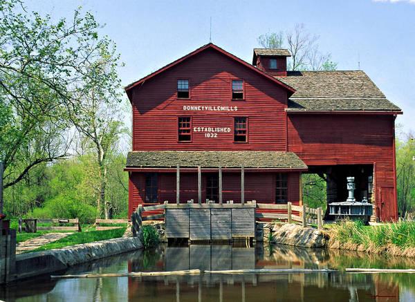 Bonneyville Mill Wall Art - Photograph - Bonneyville Mill Elkhart County Indiana by Marsha Williamson Mohr