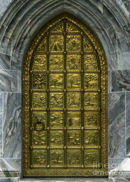 Photograph - Book Of Genesis Brass Door by Sabrina L Ryan