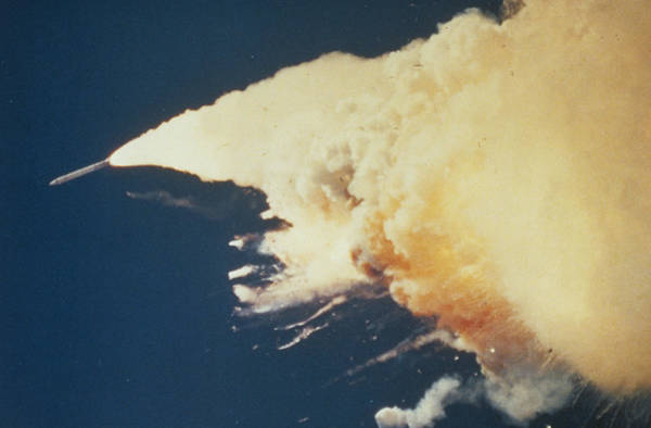 Misson Photograph - Booster Rocket Out Of Control (challenger Disaster by Nasa