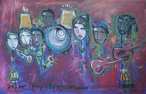 Painting - Bop Skizzum Live by Laurie Maves ART