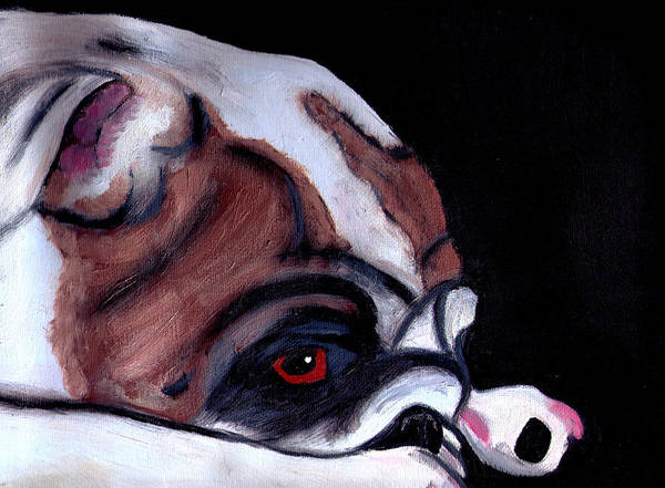 English Bulldog Painting - Bored by Tanya Stringer