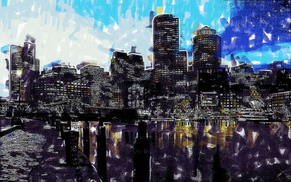 Painting - Boston Along The Harbor by Dean Wittle