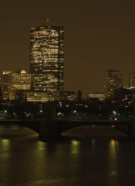 Photograph - Boston At Night 1 by Nancy De Flon